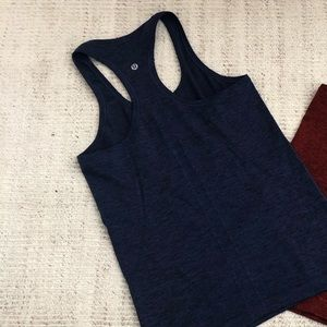 Lululemon swiftly racer back tank top black navy
